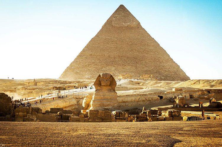 giza pyramids and sphinx giza egypt