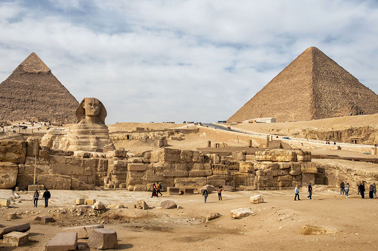 pyramids and sphinx of giza egypt