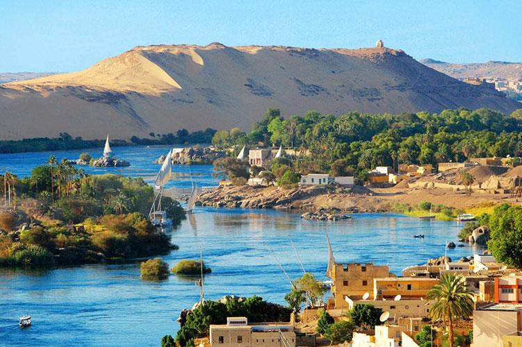 Nile river aswan egypt