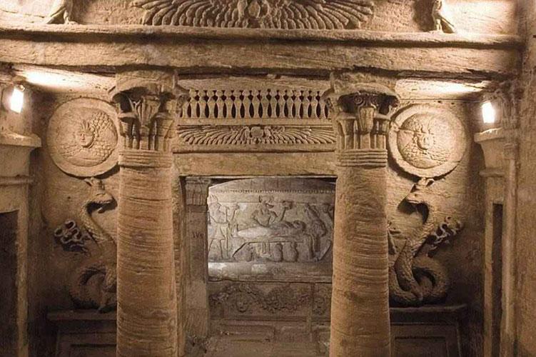 catacombs of kom el shoqafa-alexandria-egypt