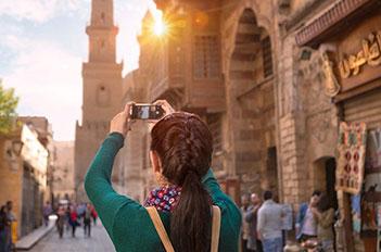 girl travel in egypt