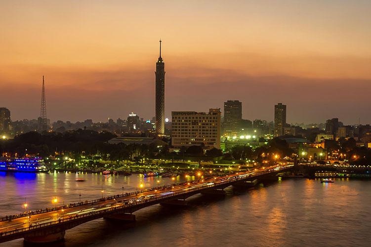 nile river at night cairo egypt