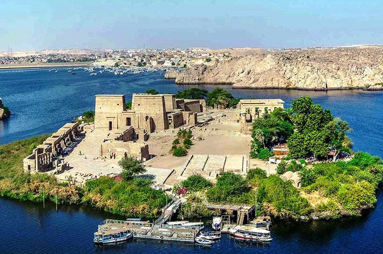 horus temple island aswan egypt