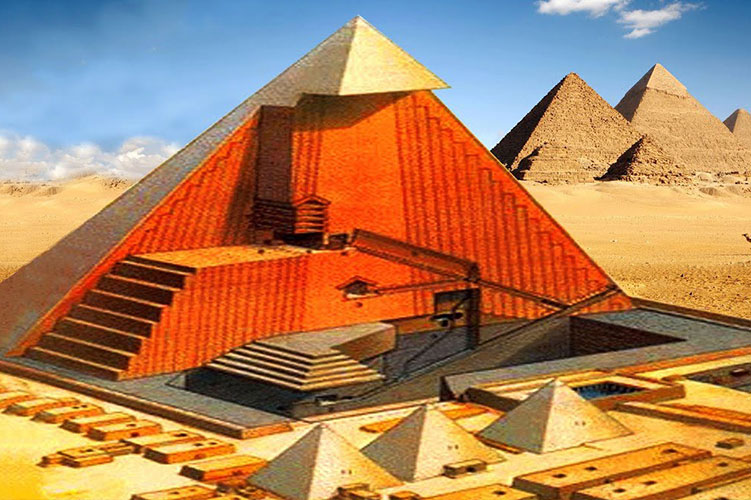building the pyramids of giza