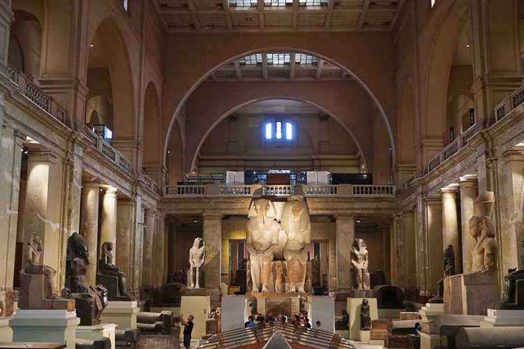 inside egyptian museum cairo egypt