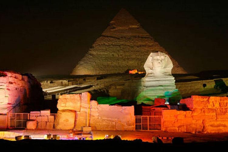 the sound and light show giza pyramids egypt