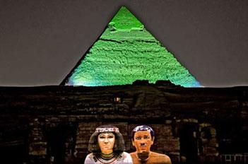 the sound and light show giza pyramids